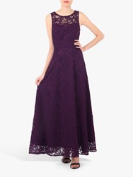 Jolie Moi Fit And Flare Lace Dress Dark Purple