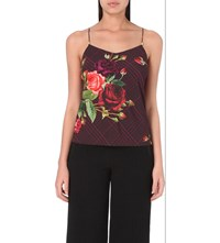 Ted Baker Juxtapose Rose Crepe Camisole Black