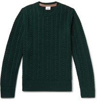 Burberry Cable Knit Cashmere Sweater Emerald