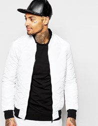 Eclipse Quilted Bomber Jacket White