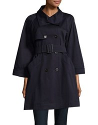 Marella Double Breasted Trench Peacoat Navy