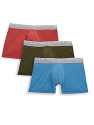 Michael Kors Three Pack Comfy Cotton Boxer Briefs Nantucket
