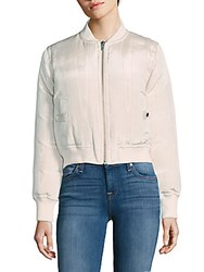 Veda Woven Puffer Jacket Dust Moire