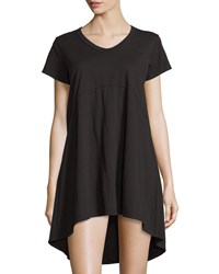 Jethro Short Sleeve High Low Shift Dress Black
