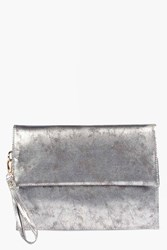 Boohoo Oversized Clutch Bag Silver
