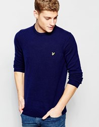 Lyle And Scott Jumper In Lambswool Crew Neck Navy