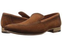 A. Testoni Sport Suede Slip On Brandy