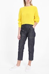 Adam By Adam Lippes Women S Cropped Knit Jumper Boutique1 Yellow