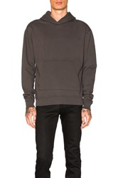 John Elliott Oversized Cropped Hoodie Charcoal
