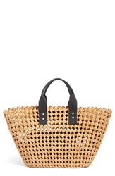 Nordstrom Open Weave Straw Tote Brown Natural