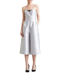 Paper Crown Milan Pleated Jumpsuit Silver