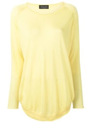 Roberto Collina Knitted Longline Top Yellow