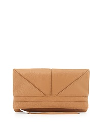 Christopher Kon Tassel Zip Geo Clutch Bag Tobacco