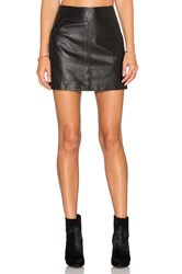 Bb Dakota Ian Leather Mini Skirt Black