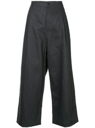 Sofie D'hoore Provence Cropped Wide Leg Trousers Black