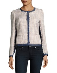 Ivanka Trump Long Sleeved Tweed Jacket Beige