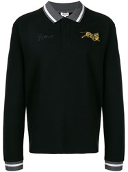 Kenzo Tiger Polo Shirt Black