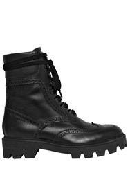 Mulberry 30Mm Brogue Leather Combat Boots