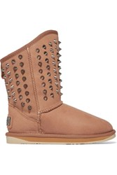 Australia Luxe Collective Pistol Studded Shearling Boots Light Brown