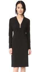 Alexander Wang Barbell Neckline Sheath Dress Black