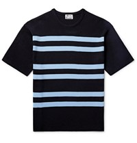Acne Studios Striped Ribbed Knit T Shirt Black