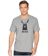 Life Is Good Bear Deer Beer Smooth Tee Heather Gray T Shirt