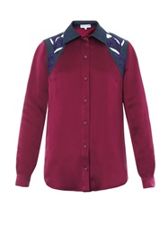 Jonathan Saunders Judith Embroidered Satin Shirt