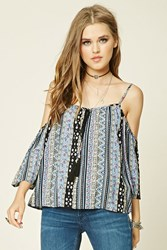 Forever 21 Abstract Off The Shoulder Top