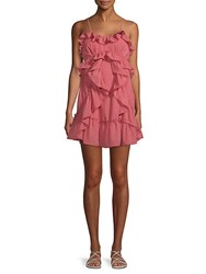 Red Carter Lachlan Ruffled Shift Dress Rosewood