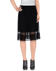 Soho De Luxe Skirts Knee Length Skirts Women Black