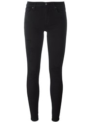 7 For All Mankind 'The Skinny' Super Skinny Jeans Black