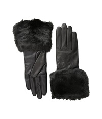 Ted Baker Jania Fur Lined Leather Gloves Black Extreme Cold Weather Gloves