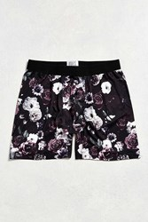 Urban Outfitters All Over Roses Boxer Brief Black