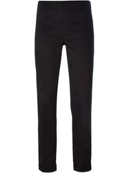 P.A.R.O.S.H. Slim Fit Trousers Black