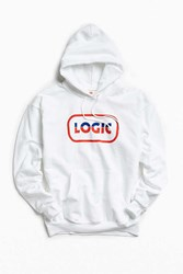 Urban Outfitters Logic Oval Logo Hoodie Sweatshirt White