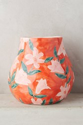 Anthropologie Welcome Spring Vase Red