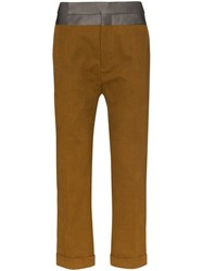 Haider Ackermann Tailored Cropped Trousers Brown