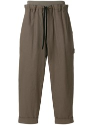 3.1 Phillip Lim Cropped Tapered Trousers Brown