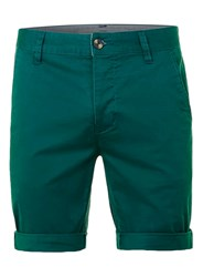 Topman Green Stretch Skinny Chino Shorts