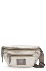 Frye Ivy Metallic Nylon Belt Bag Grey Pewter