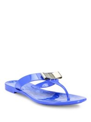 Salvatore Ferragamo Farelia Jelly Thong Sandals Blue