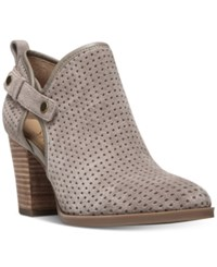 Franco Sarto Dakota Perforated Ankle Booties Women's Shoes Grey