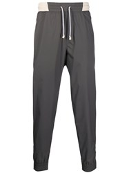 Brunello Cucinelli Panelled Track Pants Grey