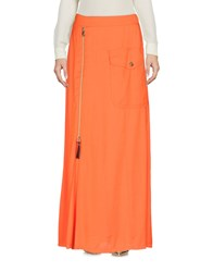 Versace Jeans Long Skirts Orange