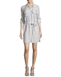 Soft Joie Willa B Striped Belted Shirtdress White
