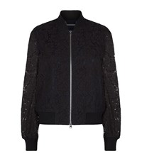 Diane Von Furstenberg Kennadie Lace Bomber Jacket Female Blue