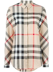 Burberry House Check Shirt Nude And Neutrals