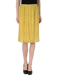 Lou Lou London Knee Length Skirts Yellow