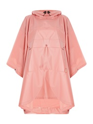 Hunter Boot Ltd Matte Vinyl Poncho With Front Pocket Pink