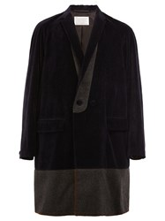 Kolor Shawl Collar Coat Blue